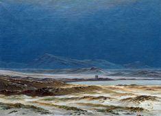 Caspar David Friedrich, Nordic landscape.