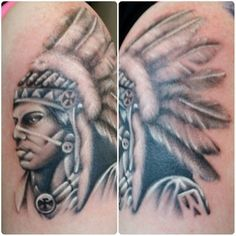 @tattoosbykryss finished this native American chief the other day. Small amount of space this week with him 07596237438 or worcestertattoostudio@hotmail.co.uk for more information