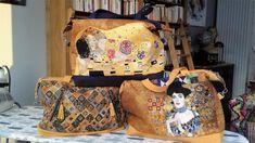 3 sacs Java, imprimé Klimt, cousus par Patou - Patron sac Sacôtin