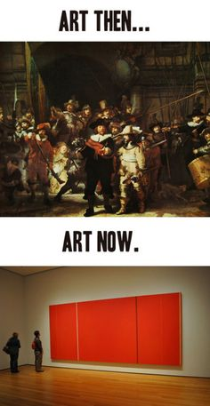 Art now and then. Depressing!
