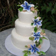 could use white stargazer lillies or calla lillies