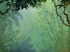 Jungle Background Art for the 1967 Movie Jungle Book – Animation ideas Jungle Scene, Jungle Art, Book Background, Animation Background, Environment Concept Art, Environment Design, Jungle Book Party, Tropical Art, Tropical Forest