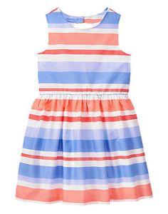 Away We Go Striped Dress Sz  Daddys Princess Daddys Girl Cute