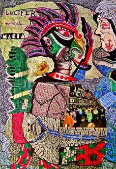 SETAN, MARIA DAN ANAK-ANAK JAMAN / SATAN, MARY AND THE CHILDREN OF AGES.Bolpoint, Magazine cut, Collage on Paper, 30 cm X 20 cm.