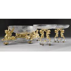 Urn Vase, Vases, Baccarat Crystal, Diamond Cuts, 19th Century, Bronze, Sculpture, Ceramics, Crystals