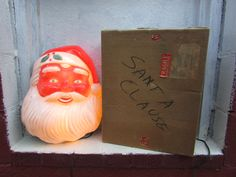 VINTAGE Santa Claus Lighted Face. Illuminated Santa Face Christmas Decoration. NOMA IOB. Original Box by VeiledThroughTime on Etsy