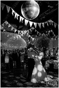 Warehouse Wedding Venues Trinity Buoy Wharf - first dance and giant disco ball