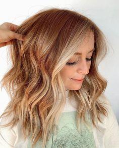 Balayage Hair Blonde, Red Bayalage, Dying My Hair, Warm Blonde, Strawberry Blonde Hair, Shoulder Hair, Ginger Hair, Hairstyles, Hairdos