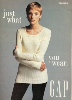 I remember seeing this Gap Ad a lot in the pages of my oh-so-cool teen magazines in the 90s!