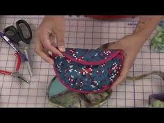 How to make a round clutch purse- ITS SEW EASY SHOW 613-1 - YouTube
