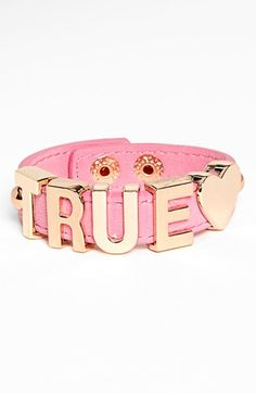 Just because it's pink!!   BCBGeneration Love Bracelet available at #Nordstrom
