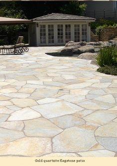 Backyard Garden Design, Backyard Retreat, Yard Design, Backyard Landscaping, Stone Patio Designs, Outdoor Patio Designs, Flagstone Patio, Concrete Patio, Outside Living