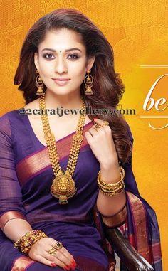 Jewellery Designs: Nayantara Gold Balla Laxmi Chain