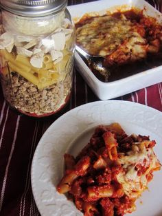Chef Tess Bakeresse: 4 New Convenience Meals in A Jar Recipes! - Baked Ziti with Sausage and Mushrooms, Beefy Spanish Rice, Bean and Rice Fajita Casserole, Golden Cheese and Sausage Potato Casserole Mason Jar Meals, Meals In A Jar, Mason Jars, Canning Jars, Freezer Cooking, Freezer Meals, New Recipes, Favorite Recipes, Soup Recipes