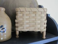 Antique Clothespin Handwoven Basket.
