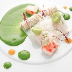 Nils Henkel's Crab, Pomelo, Buttermilk, Tarragon recipe   FOUR Magazine