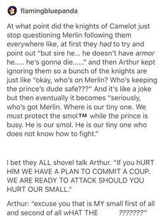 Arthur. Knights of Camelot. Merlin. Tumbler.