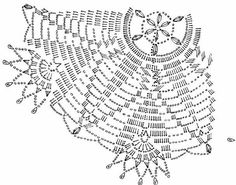Crochet Doily Diagram, Crochet Doily Patterns, Crochet Squares, Crochet Chart, Thread Crochet, Filet Crochet, Irish Crochet, Crochet Motif, Crochet Lace