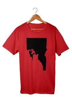 Rock Climber Men's T-Shirt  #Apparel  #GoOutLocal #OnlyinIdaho #Boise #MensTShirt  #Climb