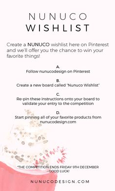 #nunucodesign #wishlist #giveaway #christmas
