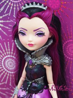 Raven Queen  OOAK Ever After High Doll Repaint by PixiesWhimsies, $80.00