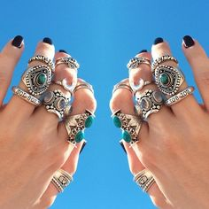 turquoise rings silver jewelry accessories
