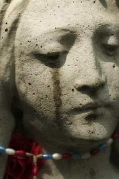 """Miracles of the Virgin Mary's Crying Statue in Japan: A statue of the Virgin Mary crying tears -- like the statue that believers say cried during the """"Our Lady of Akita"""" miracles."""