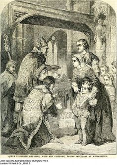 Elizabeth Woodville and her children lived in sanctuary for some time after her husband  King Edward had died