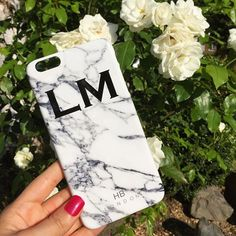 Personalised Initial White Marble Phone Case