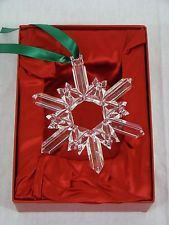 Waterford 20th Anniversary Jim O'Leary Crystal Snowflake Ornament