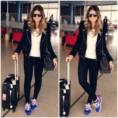 .@Thassia Mutammara Mutammara Naves | Airport Style!