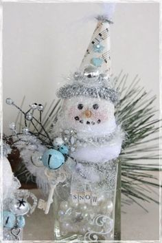 snowman with bells and key...these are so cute!