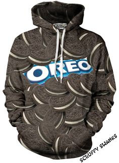 All over print original Oreo cookies with the Oreo logo in the middle.