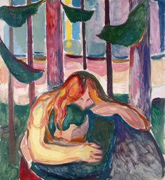 'Vampire in the Forest' - (1916-1918) - Edvard Munch.