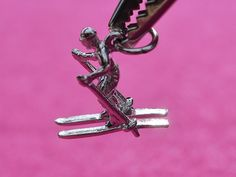 Brand New, Sterling Silver, Rembrandt 3D Snow Skier, Charm / Pendant  #Rembrandt #CharmPendant