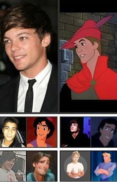If 1D were Disney characters