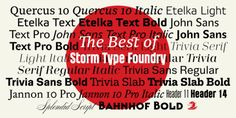 Najlepšie písma od Storm Type Foundry v jednom balíku so zľavou 30%   https://detepe.sk/najlepsie-pisma-storm-type-foundry-jednom-baliku-so-zlavou-30