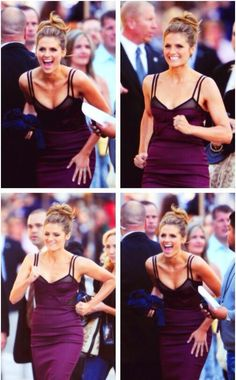 Stana running to greet her fans. Love that woman!