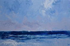 """""""Blue Ocean Sails - Ocean decor series - textured knife painting"""" by Mike Barr. Paintings for Sale. Knife Painting, Acrylic Painting Canvas, New Artists, Great Artists, Melbourne, Surf, Buy Art Online, Impressionism Art, Paintings For Sale"""