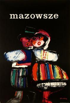 """Waldemar Świerzy, """"Mazowsze"""", 1961, źródło: Galeria Plaktau BUW"""