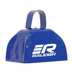 Logo printed blue cowbells by OneWayPromos. Print your logo, message or text on cowbells and other great products to create your customized promotional products.