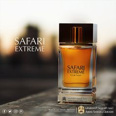 "Discover your wild side with ""Safari Extreme"". Best Perfume, Perfume Oils, Perfume Bottles, Carolina Herrera 212 Vip, Best Fragrances, Men's Cologne, Greece Travel, Arabesque, Safari"