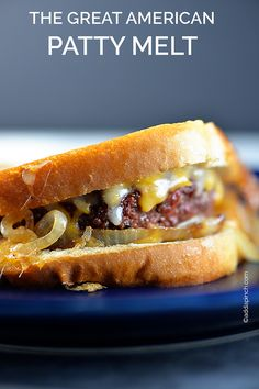 The Great American Patty Melt - a slight change from the typical grilled burger