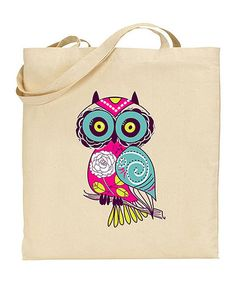 Another great find on #zulily! Natural Owl Tote #zulilyfinds