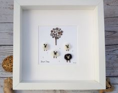 Ready to Ship Pebble Art Pebble Picture Wall by PebbleStories