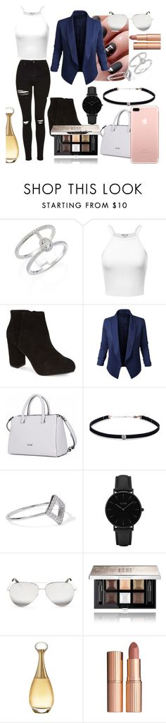"""""""Untitled #45"""" by marianayasmin on Polyvore featuring Messika, Topshop, Jupe de Abby, Carbon & Hyde, Noir Jewelry, CLUSE, Victoria Beckham, Givenchy, Christian Dior and Charlotte Tilbury"""