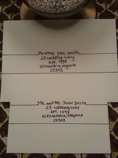 Handwritten addressing of envelopes and placecards #wedding #stylish