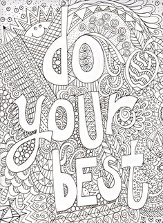 Free Inspirational Quote Adult Coloring Book Image From LiltKids Throughout Pages For Adults