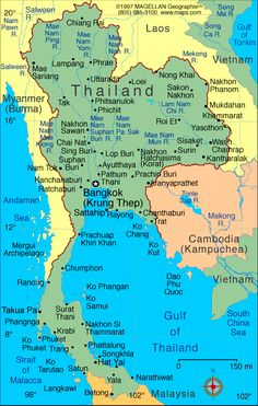 geography thailand is a country in south east asia bordered by malaysia to the south cambodia to the east myanmar burma to the north west and laos to