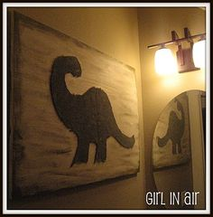 Dinosaur Wall Art Crafts Project: Here are some ideas for a dinosaur baby nursery with decorations that you can make yourself CHEAP! If you have had the time to take a look at the latest